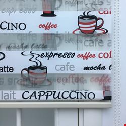 Caffee Cappuccino Desenli Zebra Perde