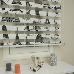 Paris Eyfel Kulesi Baskılı Zebra Perdeler