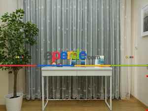 Çocuk Odası Tül Perde - Yelkenli Çapa Desenli Perdesi- Ekru
