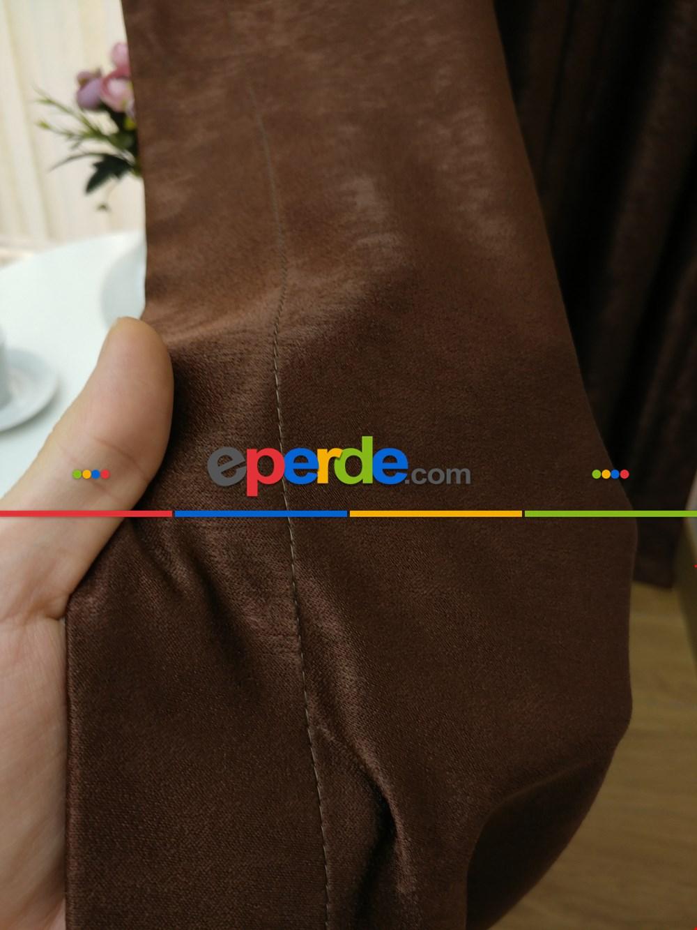 Soft Fon Perde- Kahve