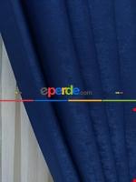 Soft İndigo Fon Perde (180)- Mavi Mavi