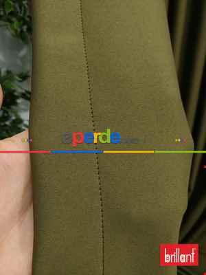 Brillant Karartma Blackout Haki Yeşil Renk Fon Perde 180cm En- Yeşil-haki
