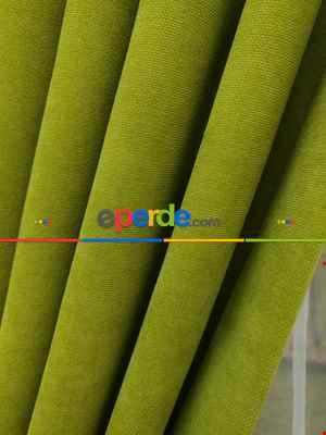 Yağ Yeşili Düz Fon Perde Dökümlü Birinci Kalite 300 Cm Geniş En Daha Hesaplı- Açık Yeşil