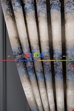 Gökkuşagı Desenli Jakar Fon Perde (180cm En)- Mavi Açık Lacivert