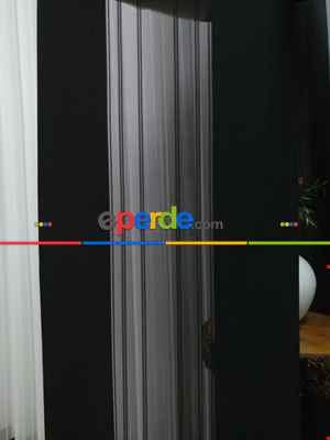 Lens Akıllı Dikey Tül Perde 111- Siyah-beyaz-gümüş-antrasit