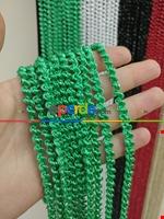 Siyah Rengi İp Perde Bukle Serisi Yeşil - Gümüş