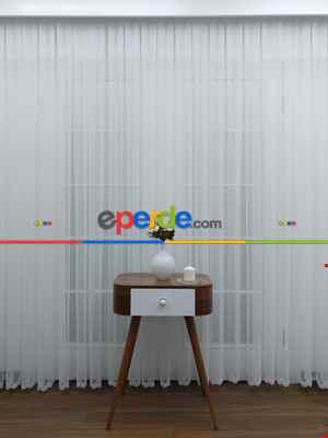 Mutfak - Ekru Fransız Dantel Etek Ucu Güpür İşlemeli Salon Perdesi 2021- Ekru