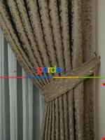 Toprak Rengi Duz Jakar Fon Perde (180)- Kahverengi Taba