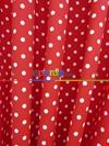 Kırmızı Fon Perde Puanlı ( Leke Tutmaz )