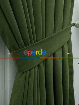 %25 İndirimli!!! Yeşil Düz Fon Perde- Yeşil