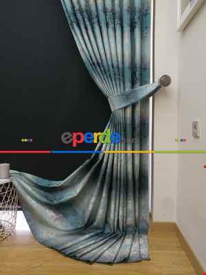 Salon Fon Perde- Turkuaz Yeşili Ara Renk