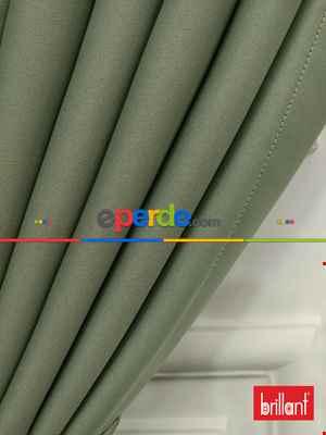 Brillant Karartma Blackout Su Yeşili Renk Fon Perde- Su Yeşili