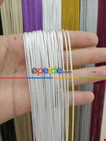 Bordo Rengi İp Perde İnce Zincir Serisi Beyaz