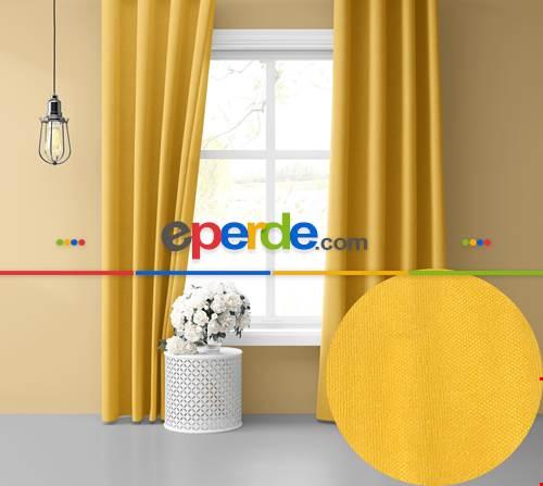 Güneş Sarısı Ada Fon Perde 51 Renk Seçeneği 150x260 Perle Home Daily Series 150cm X 260cm