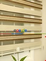 Zebra Perde - Caprice Bej-mor-eflatun Renk Bambu (geçiş Zeminli) Bej - Kahve Açık - Vizon Rengi