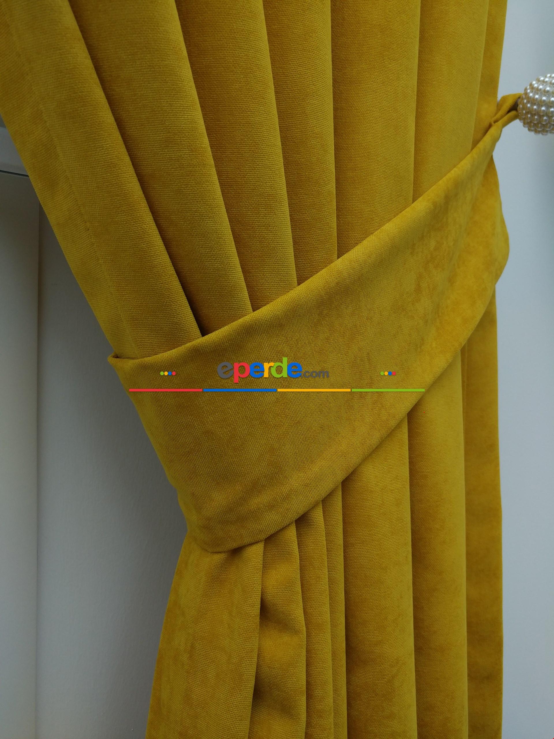 Hardal Sarısı - Düz Fon Perde (180)