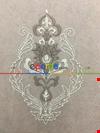 Kahve-krem Çift Renkli Damask Desenli Nakış İşlemeli Tül Perde