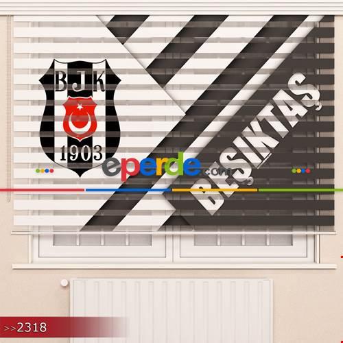 Beşiktaş Özel Poster Baskılı Zebra Perde