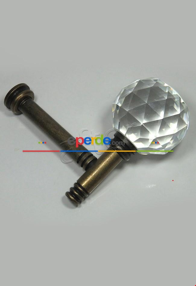 Fon Demiri Renso Pipo Camlı Eskitme-7cm ( 2adet)