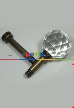 Fon Demiri Renso Pipo Camlı Gümüş-7 Cm( 2adet) Kahverengi