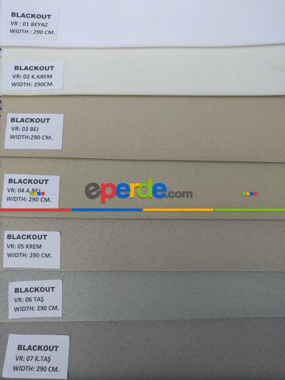 Blackout Düz Fon Perde Karartma Perde Güneşlik-  Çok Renkli 3