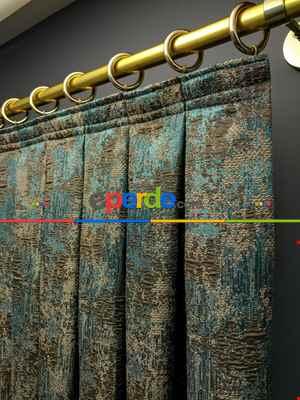 Salon Perdesi - Modern Desenli Jakarlı Fon Perde Yeni Seri 401- Gri-Füme-Antrasit
