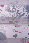 Çiçek Desen Zebra Perde