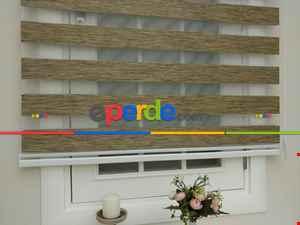 Salon Zebra - Rakipsiz Fiyat Son İndirim!!! % İndirimli!! Lüx Bambu Zebra Perde Ahşap Görünümlü - Kahverengi- Kahve Venge