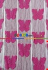 İp Perde Kelebek 3mt'lik Kupon Fuşya
