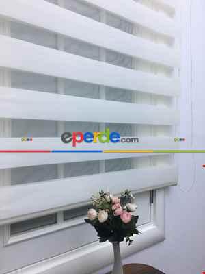 Zebra Perde - Krem 427-08- Krem