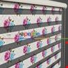 Çiçekler Desen Baskılı Zebra Perde