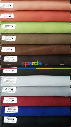 Blackout Düz Fon Perde Karartma Perde Güneşlik- Çok Renkli