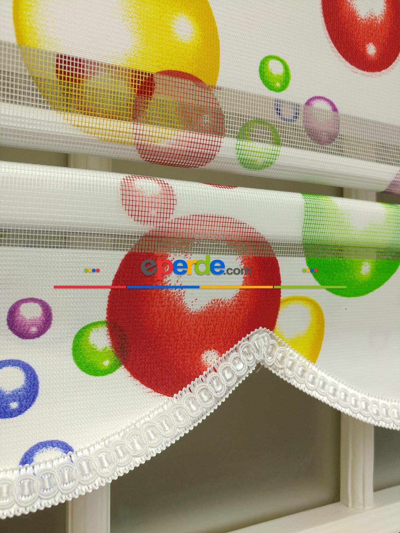 Zebra Perde - Baloncuk Baskılı Çocuk Ve Genç Odası