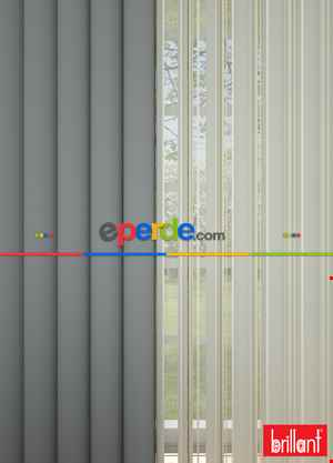 Brillant Akıllı Tül Perde Gri Renkli Tül Dikey Zebra Perde Düz 1. Kalite