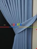 Gri Düz Renk Dökümlü Fon Perde (150)- Gri Mavi