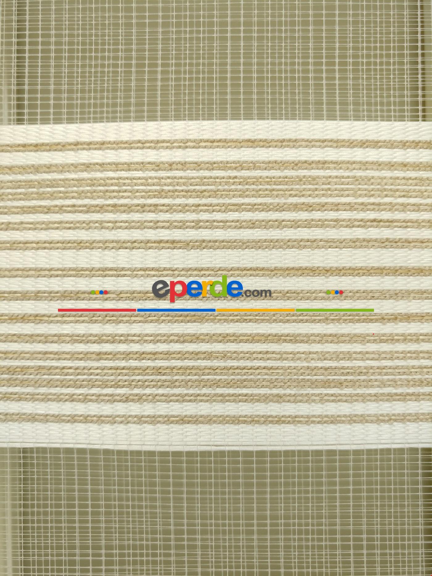 Zebra Perde - Nehir Bej-kum Beji Renk Bambu (geçiş Zeminli)