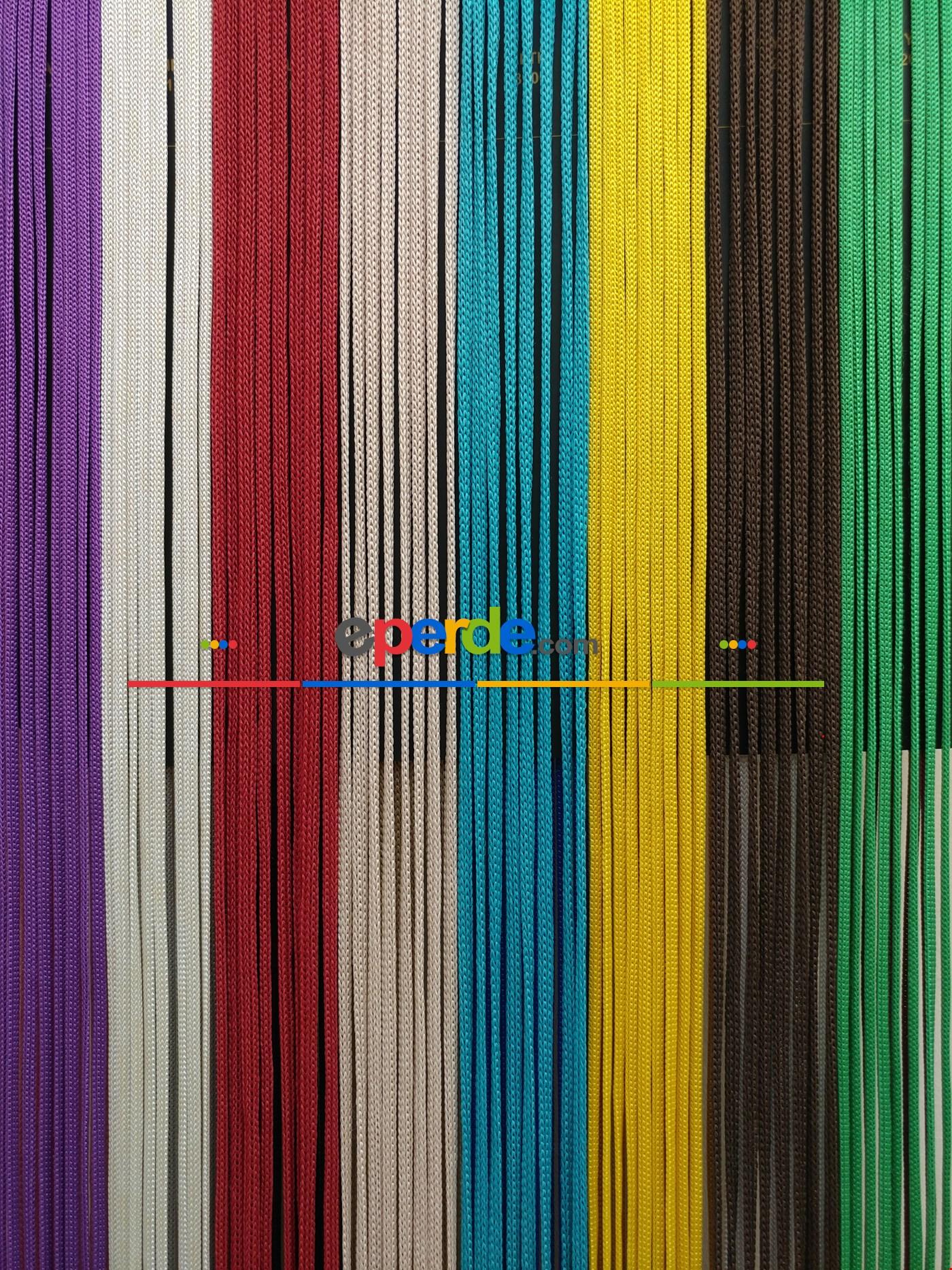 Krem Rengi İp Perde Jumbo Zincir Serisi