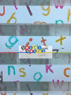 Zebra Perde- Dijital Alfabe Baskılı Zebra Perde- Diğer