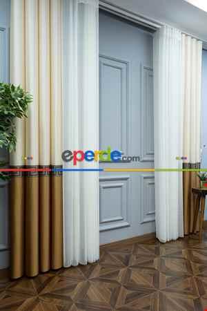 Lens Akıllı Dikey Tül Perde Versace-43- Çok Renkli 2