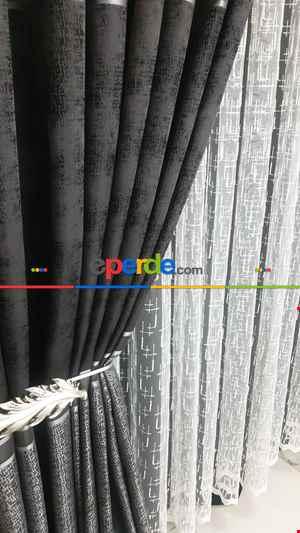 Noktalı Modern Pano Fon Perde 50cm X 275cm