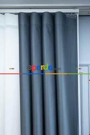 Lens Akıllı Dikey Tül Perde Bulut-13- Çok Renkli 2