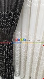 Rustik Perdesi Decoring Perde Yeni Moda Kuşgözü Rustik Fon Perde Mavi - Gri Füme Antrasit - Kahverengi - Kırmızı - Krem - Bordo