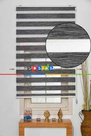 Salon Zebra Perde -Indirimli !!! Zebra Perde Füme Bambu Ozel Fiyat- Füme