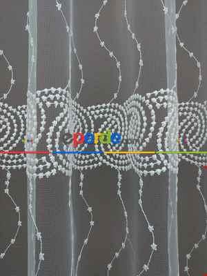 Brode İşlemeli Tül Perde -s- Desen (280)- Ekru