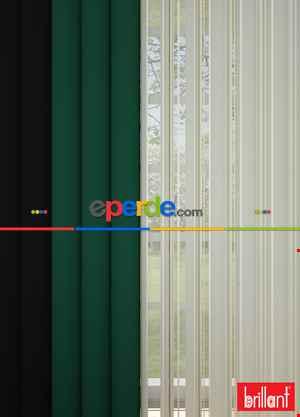 Brillant Akıllı Tül Siyah-yeşil Perde Tül Dikey Zebra Perde Düz 1. Kalite