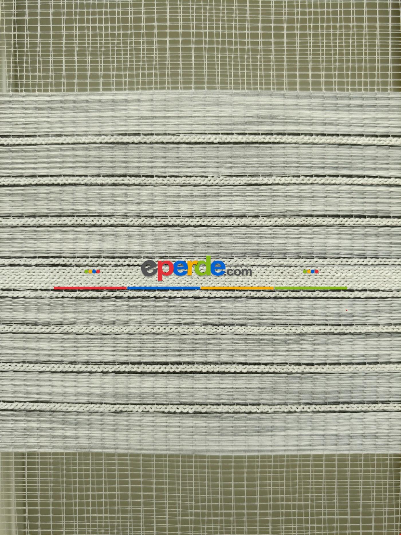 Zebra Perde - Nehir Gri Renk Bambu (geçiş Zeminli)