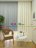 Soft Fon Perde- Fıstık Yeşili Krem