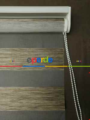 Zebra Perde -bambu Düz Zebra Perde- Kahve Açık