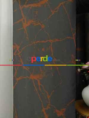 Lens Akıllı Dikey Tül Perde Mermer-23- Çok Renkli 2