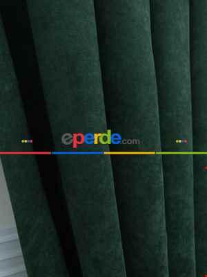 Yeşil Düz Fon Perde (280 Eninde)- Yeşil